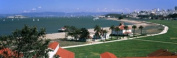 Panoramic Images PPI120834L Buildings in a park Crissy Field San Francisco California USA Poster Print by Panoramic Images - 36 x 12