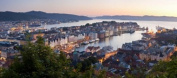 Panoramic Images PPI122847L Buildings in a city Bergen Hordaland County Norway Poster Print by Panoramic Images - 36 x 12