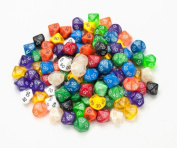 Bry Belly GDIC-1005 100 plus Pack of Random D10 - 00 Dice in Multiple Colours