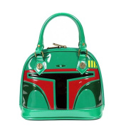 Loungefly Star Wars Boba Fett Patent Mini Dome Bag