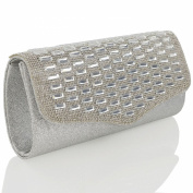 ESSEX GLAM Glitter Diamante Evening Bag