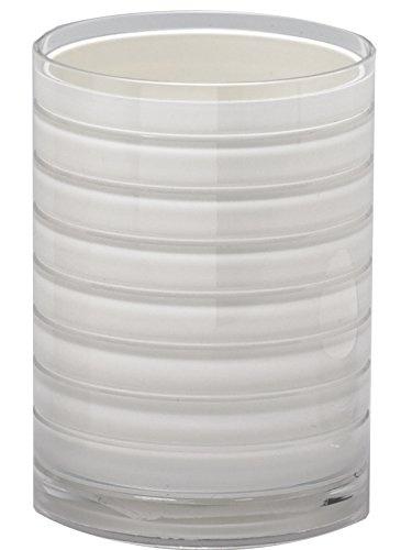 Tumbler-Moda-At-Home-Inc-104160-Ice-Series-Acrylic-Tumbler-10cm-White