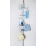 Richards Homewares 3 Shelf Lakeview Chrome Tension Pole Shower Organiser with Soap Dish