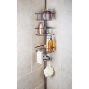 Richards Homewares Laguna Bronze Nickel Tension Pole Shower Organiser with Soap Dish