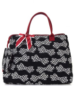 Houndstooth Bow Tie Print Tote