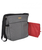 "Baby Essentials ""Simple Stripes"" Nappy Tote Bag with Changing Pad - black/white, one size"