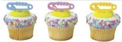 Item#34145 - Baby Nappy Pins Pic Cupcake Toppers w. Matching Coloured Baking Cups