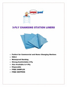 Oops Pad 3-Ply Blue Changing Station Table Liners 500ct
