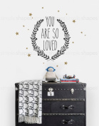 You Are So Loved Quote Lettering Wall Decal - by Simple Shapes ®