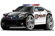 Dodge Charger Magnum Police Cars Art Large 1.2m long Wall Graphic Decal Sticker Man Cave Garage Decor Boys Room Decor