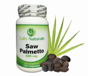 Saw Palmetto Complex for Prostate Health 500mg (100 Count) ★ Combination of Extract and Berry Powder ★ Includes DHT Blocker to Combat Hair Loss★ All Natural ★ Helps to Reduce Frequent Urination