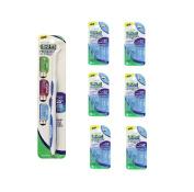 Gum Go-betweens Proxabrush Handle + 6 packs of refills