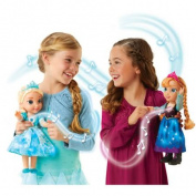 DISNEY FROZEN SNOW GLOW SINGING SISTERS ANNA & ELSA DOLL TOY