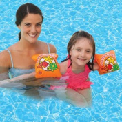 """Orange Swimming Pool Inflatable """"Learn-To-Swim"""" Arm Floaties - Children Ages 3-12"""