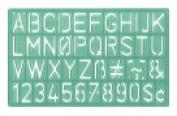 Westcott C-Thru Lettering Guide - 17cm x 33cm .