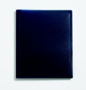 School Smart Polypropylene 2 Pockets Heavy Duty Pocket Portfolio With Fastener Dark Blue Pack - 2