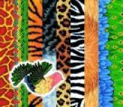Roylco Assorted Animal Pattern Craft Paper Pack - 40