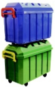Early Childhood Resources Heavy Duty Stor & Roll Trunk With Casters Pack 4