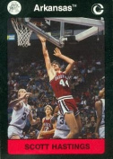 Scott Hastings Basketball Card (Arkansas) 1991 Collegiate Collection No.35