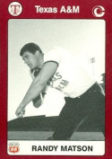 Randy Matson Trading Card (Texas A & M) 1991 Collegiate Collection No.44 Track & Field