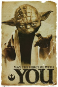 Hot Stuff Enterprise Z166-24x36-NA Star Wars Yoda Poster 24 x 36