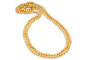 Fine Jewellery Vault UBNKBK7044FWCP Cultured Freshwater Pearl Champagne 80 in. Strand Necklace 8.5mm.