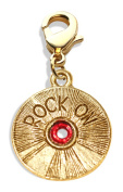 Whimsical Gifts 1218G Rock On CD Charm Dangle in Gold