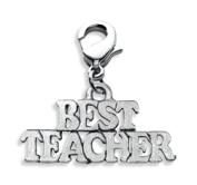Whimsical Gifts 4364S Best Teacher Charm Dangle Silver