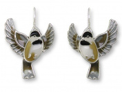 Zarah 32-11-Z1 Flying Chickadee Ultrafine Silver Plate Earrings