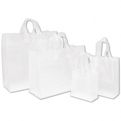 Deluxe Small Business Sales 268-100-C Frosted High Density Shoppers Clear