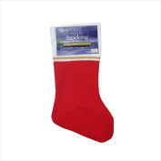 NorthLight 48cm . Traditional Red & White Stocking With Gold Glitter Glue Pen