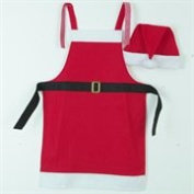 NorthLight Red Santa Claus Apron With Hat Set