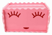 Creative Tissue Box Hollow Assembled Tissue Box Cover Holder, Pink Smiling Face