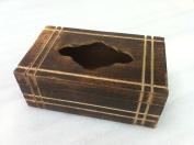 StarZebra - Wooden Rectangular Tissue Box Cover Holder for Family