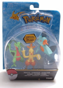 Pokemon 7.6cm Action Figure 3 Pack - Ivysaur, Wartortle, and Charmeleon