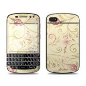 DecalGirl BQ10-TSCROLL BlackBerry Q10 Skin - Tulip Scroll