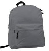 Harvest LM183 Grey 46cm . Simple Backpack School Bag Day Pack & Book Bag