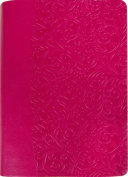 FaithWords-Hachette Book Group 112354 Amplified Everyday Life Bible - Fuchsia Pink Leatherette