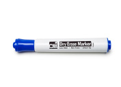 12Ct Blue Chisel Tip Dry Erase Markers Barrel Style