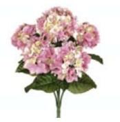 FBH335-PK 60cm . Pink Hydrangea Bush X5- Case of 6