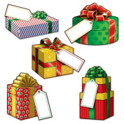 Beistle 22273 Mini Christmas Gift Cutouts Pack Of 24