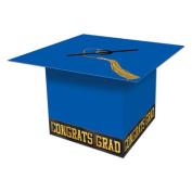 Beistle 57393-B Grad Cap Card Box Blue - Pack Of 6