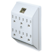 Uninex International PS23U-WH Master Electrician Current Tap White - 6 Outlet