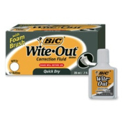 Bic Corporation BICWOFQDP1WHI Correction Fluid- Quick Dry - 22ml- White