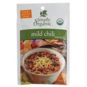 Simply Organic B53482 Simply Organic Mild Chilli Seasoning Mix Certified Organic -12x30ml