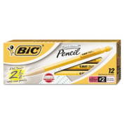 Bic Corporation MPLWS11BLK Student`s Choice Pencil 0.9 mm Yellow Barrel Dozen