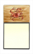 Carolines Treasures 8154SN Cooked Crab Sandy Beach Refiillable Sticky Note Holder or Postit Note Dispenser 7.6cm x 7.6cm .