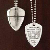 Bob Siemon Designs 817875 Shield Of Faith Cross With 60cm . Chain Uncarded Pendant