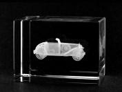 Asfour Crystal 1159-70-29 2 L x 2.75 H x 2 W in. Crystal Laser-Engraved Old Car Transportation Laser-Cut