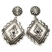 Silver Repousse Earrings By Charlie